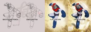 Mazinger Z_PROCESS by FranciscoETCHART