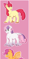 Pony style practice - Foals by Arcticwaters