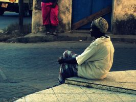 An old man in Malindi by phakeplastic