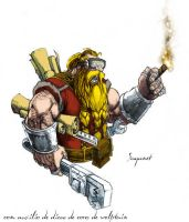 Dwarven Engineer by saganet