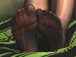 Female Feet in Stockings 1 PT2 by TobyMcDee