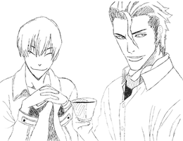 Gin and Aizen by Scooz87