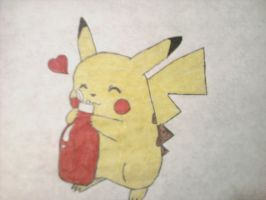 PIKACHU LOVES KETCHUP! by sasukeissohot97