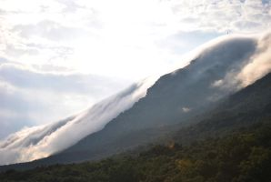 Mountains and clouds falling down by IstakenN