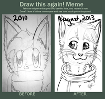 Draw this Again Meme by ButterflyColour