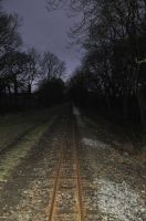 Railway in the morning by MikeyHramiak