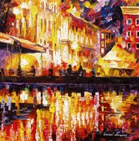 Red Spell by Leonid Afremov by Leonidafremov