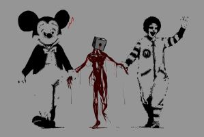 Bloodstains and Banksy 1 by MonotonyArt