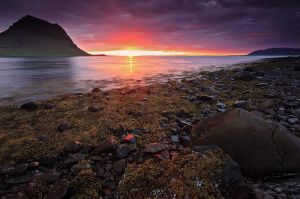 As the sun sets,  Iceland by Brettc
