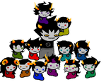 Karkat and the wrigglers by flapjackfan4444
