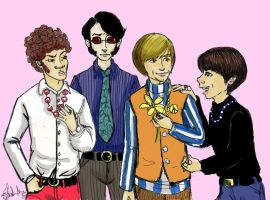 Monkees Hang Out by asamamoru