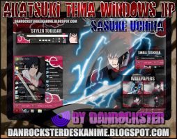 Sasuke Akatsuki Theme Win XP by Danrockster