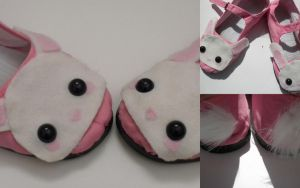 Pink Bunnie Shoes by Lyseebell