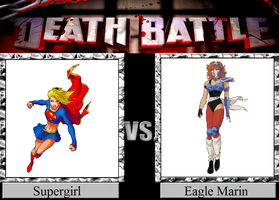 Supergirl vs. Eagle Marin by JasonPictures