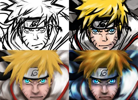 Naruto step by step by HappyWasabii