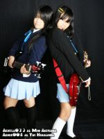 COS:Yui AND Mio by Abhie008