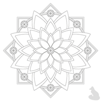 Animated Floral Coloring Book Page Design by foxyboxysolutions