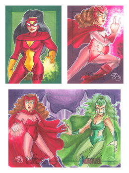 Women of Marvel 6 by Jadiekins