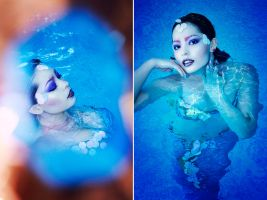 shimmering blue by iomaSaty