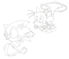 Sonic And Tails by sonictopfan