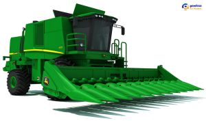 Deere Harvester by Gandoza