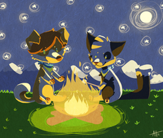 Round the Campfire by MochaDude
