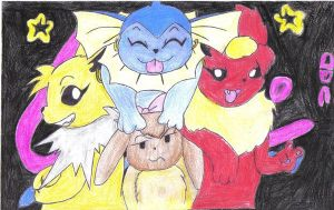 pokemon eeveelution drawing by jackstar93
