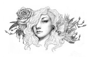 WIP Bloom with no color by laurakashmir