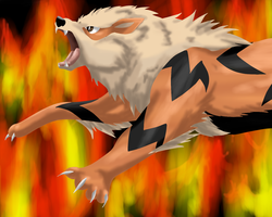 Arcanine by Jellywolf25