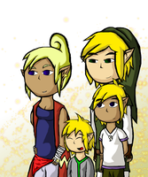 Link's Family Potrait by kukotte