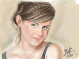 Emma Watson portrait (iPad Finger Painting) by chaseroflight