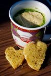 Broccoli Soup with roasted corn bread and cheese by FiXato