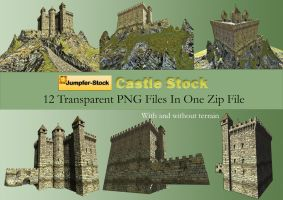 Castle PNG Stock Pack by Roys-Art