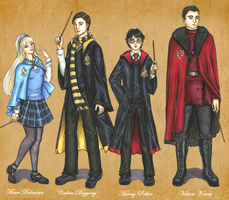 Triwizard Champions by Foxy-Lady-Jacqueline