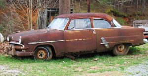 Don't Forget Me Okay-Rusty Car by CrystalMarineGallery