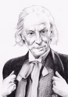 William Hartnell as the First Doctor Who by Kate-Murray
