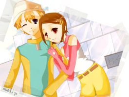 picture time - takeru x hikari by pixel-food