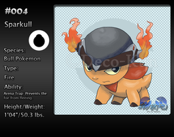Ore no Pokemon: 004 - Sparkull by Deco-kun