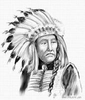 Indian chief by peileppe