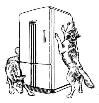 Wolves and Refrigerator by mlauritano