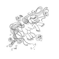 Day of the Dead Skull Pony Lines by karla-chan