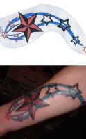 arm tattoo by skater-monk