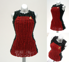 Custom: Star Trek NG Bead Dress by pinkythepink