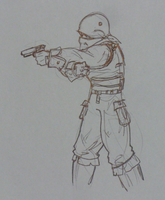 guy with pistols by Angryspacecrab