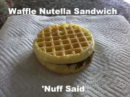 Waffle Nutella Sandwich by thenumba1spaz