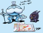 POKEDDEX Day 8: Jellicent and Gengar by Psh07