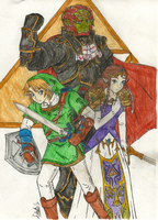 Carriers of the Triforce Pieces by Akarui-Sakura