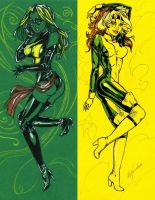Rogue+Miss Marvel by Erizabetitsme