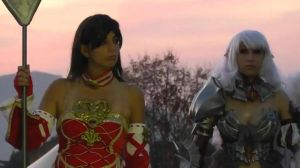 Human mage and Kamael - Lineage II by EllyMello