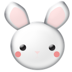 Bunny Clipart by WordDraw